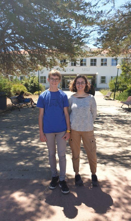 Imagen de los dos estudiantes menorquines.