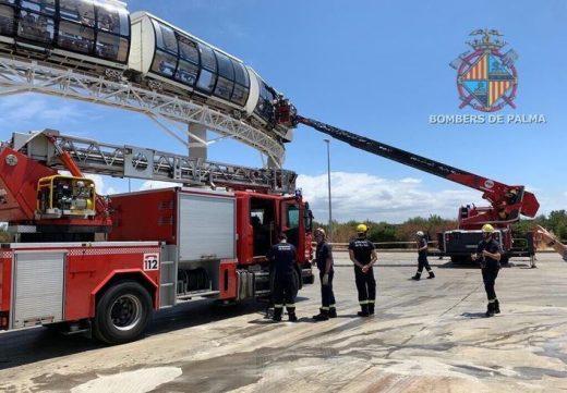Imagen del rescate de los bomberos.