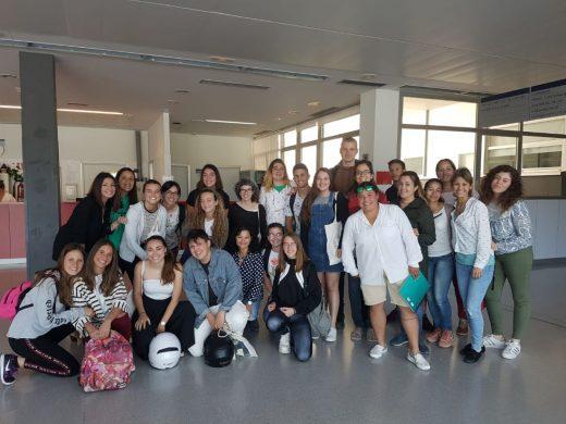 Los estudiantes visitaron las instalaciones del Hospital