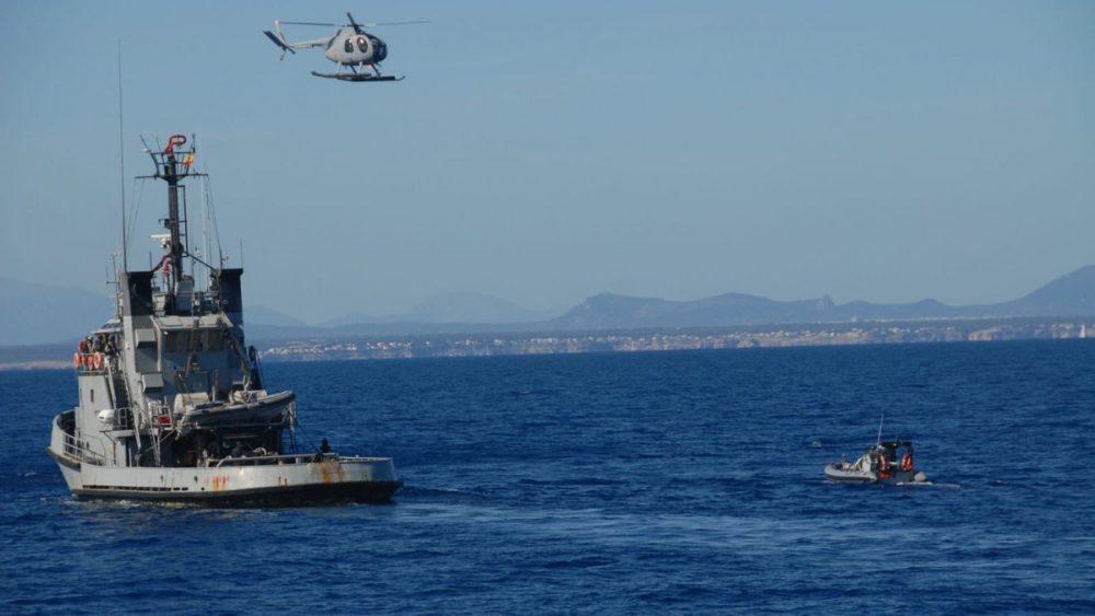 Un momento de los ejercicios (Fotos: Armada Española)