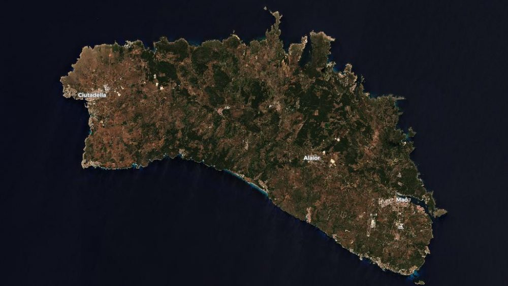 Vista general de Menorca (Fotos: Sentinel-2)