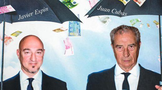 Cartel de una de las cientos de obras que ha protagonizado Juan Cubas