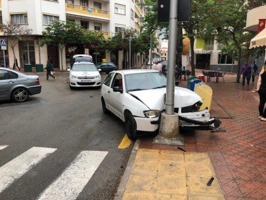 Imagen del vehículo accidentado (Foto: Tolo Mercadal)