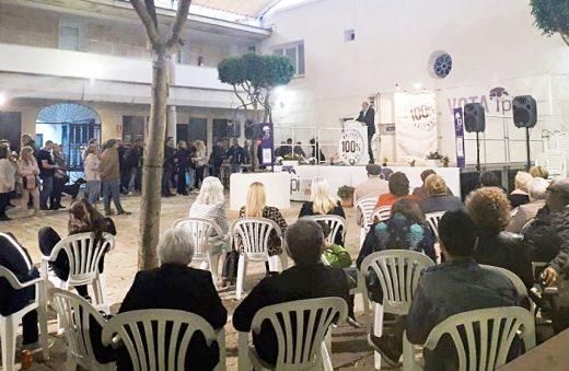 Imagen del acto de campaña de El Pi.
