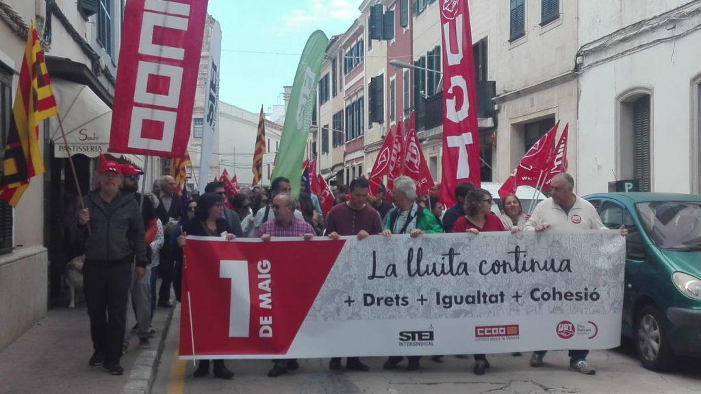 Imagen de la manifestación que se celebró en Maó en 2019