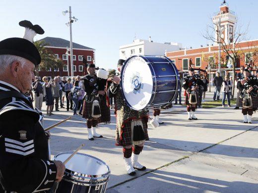 Gaitas para abrir las jornadas hispano-británicas de Es Castell