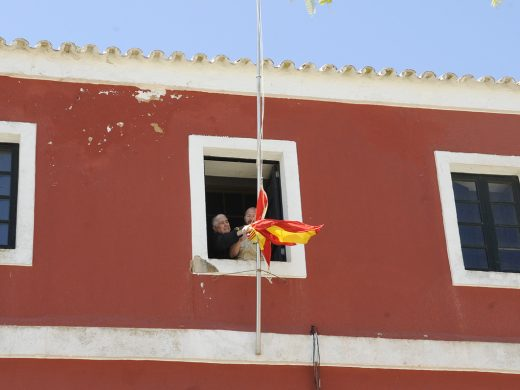 Accidentada recreación histórica en Es Castell