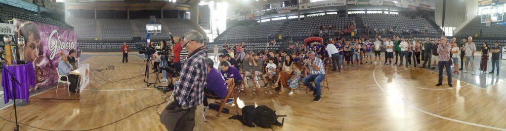 Urko Otegui, en su despedida en Palencia (Foto: Baloncesto Palencia)