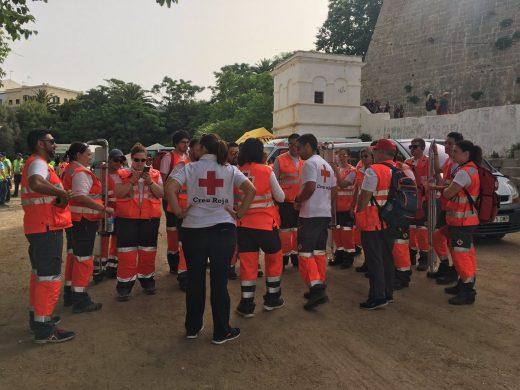 (Fotos) Creu Roja atendió a 126 personas, la mayoría por golpes