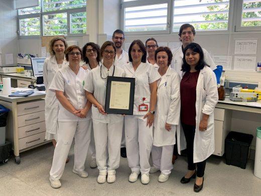 Equipo de hematología del Hospital Mateu Orfila