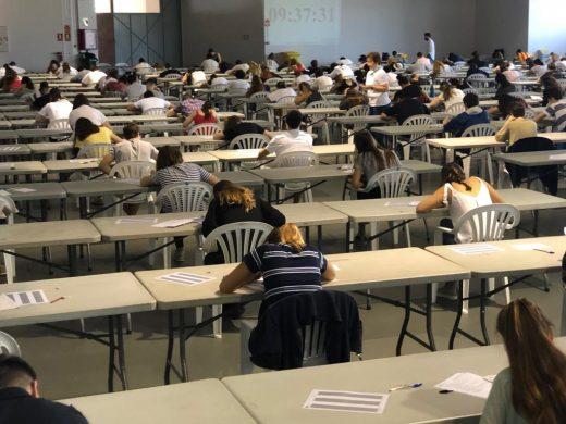 Imagen del examen en el Recinte Firal de Maó (Foto: Tolo Mercadal)