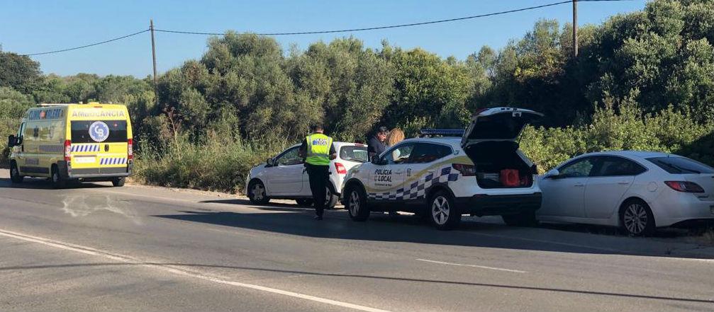 Imagen de los vehículos accidentados (Foto: Tolo Mercadal)