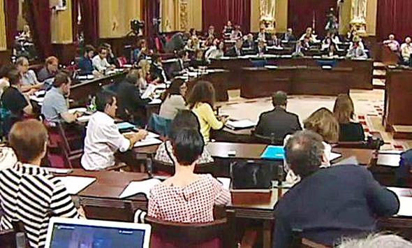 Imagen de un Pleno en el Parlament balear.
