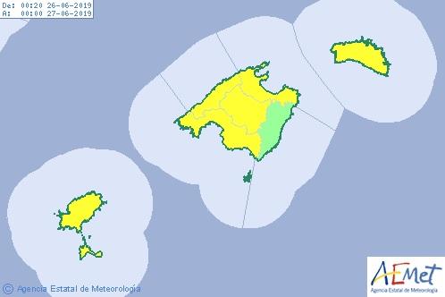 Las altas temperaturas dominarán hoy todas las islas del archipiélago balear