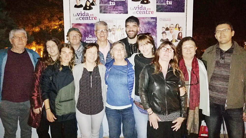 Integrantes de Podemos en Ciutadella