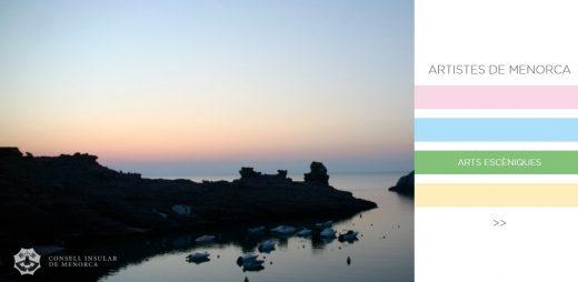 Portada de la web que recogerá a los artistas nacidos o residentes en Menorca