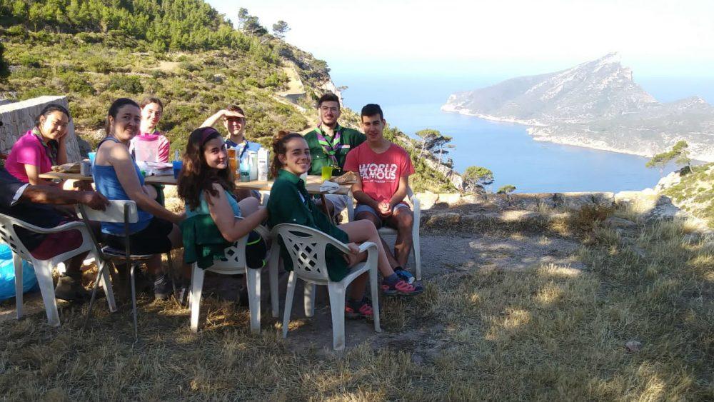 Los menorquines, en La Trapa (Fotos: Bisbat de Menorca)