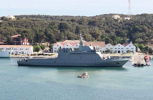 Imagen de esta mañana en la Base Naval del puerto de Maó