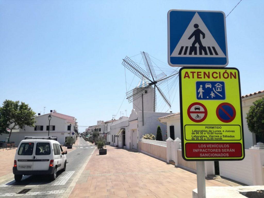 Cartel de entrada al Cós de Sant Lluís (Foto: Ajuntament de Sant Lluís)