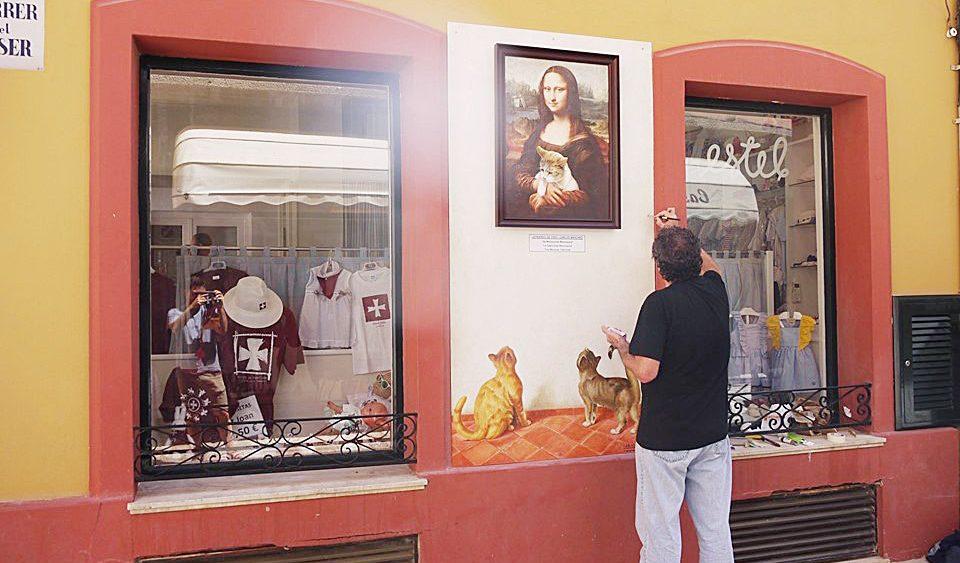 El pintor Carles Mascaró es uno de los habituales en este evento. (Fotos: Ciutadella Antiga)