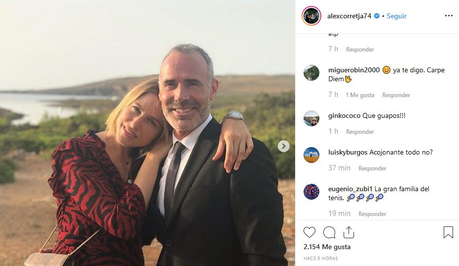 Klein y Corretja, en el post que han colgado en Instagram.