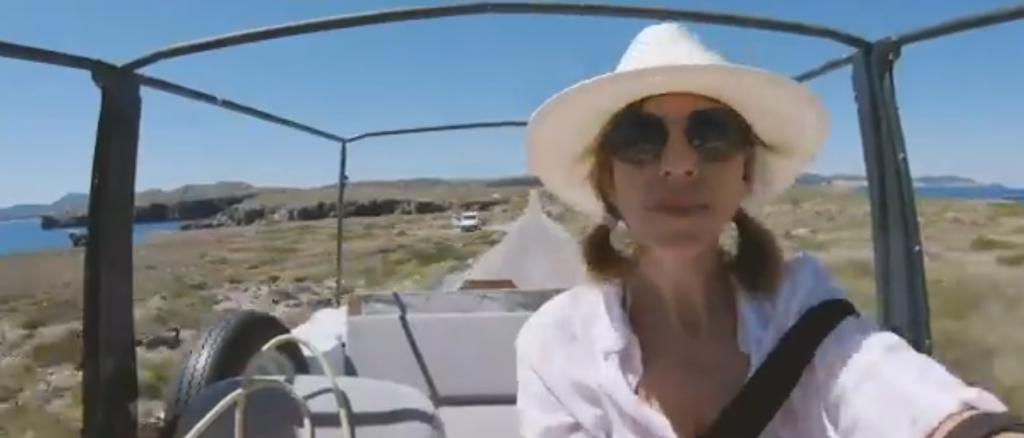 La presentadora, de ruta por Menorca.
