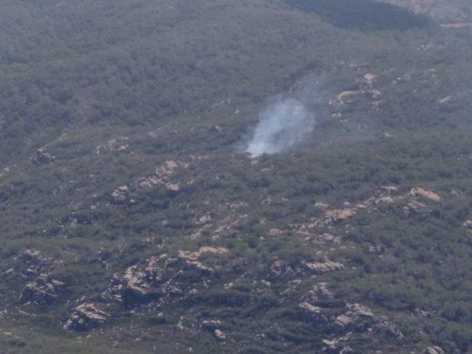 Imagen del Ibanat de la zona boscosa en la que se ha originado el incendio