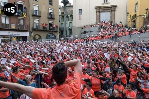 El espectáculo ha llegado a reunir a más de 2000 personas cantando