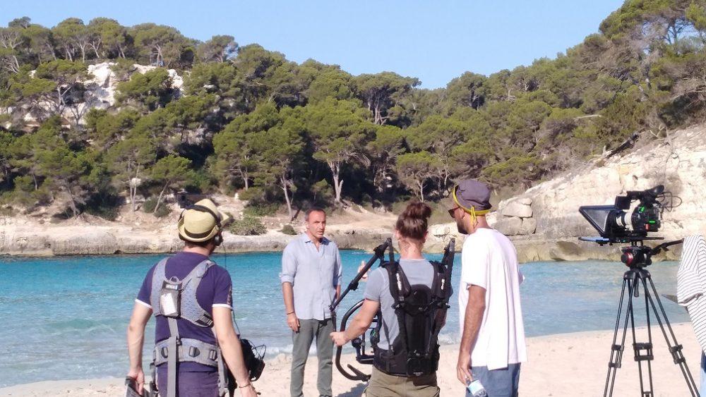 Imagen de un momento del rodaje (Fotos: Fundació Foment del Turisme)