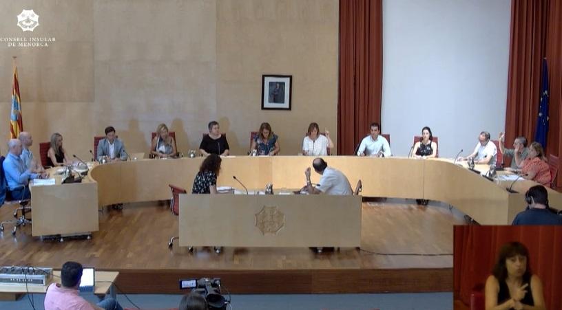 Imagen del Pleno del Consell celebrado esta mañana