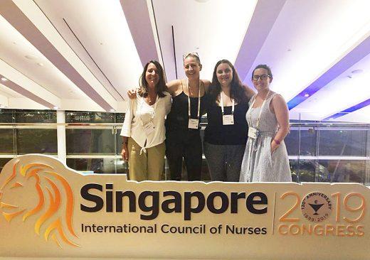 Las enfermeras menorquinas en Singapur (Foto: COIBA)