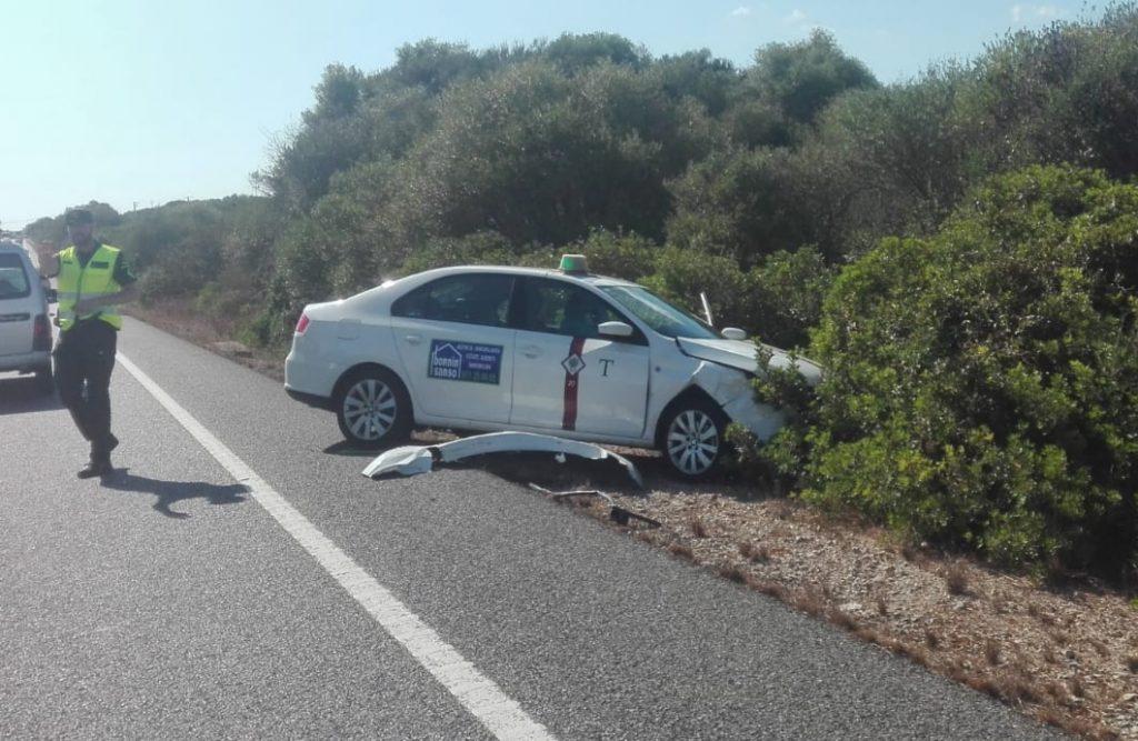 Uno de los coches afectados