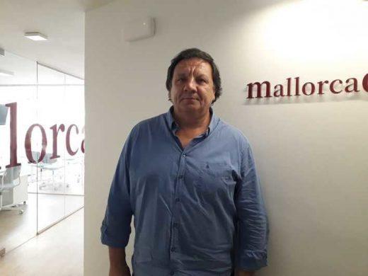 Xisco Mulet, tras la entrevista (Foto: mallorcadiario.com)