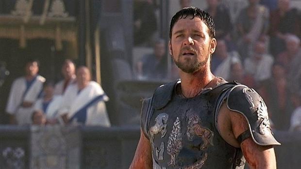 Russell Crowe en Gladiator.