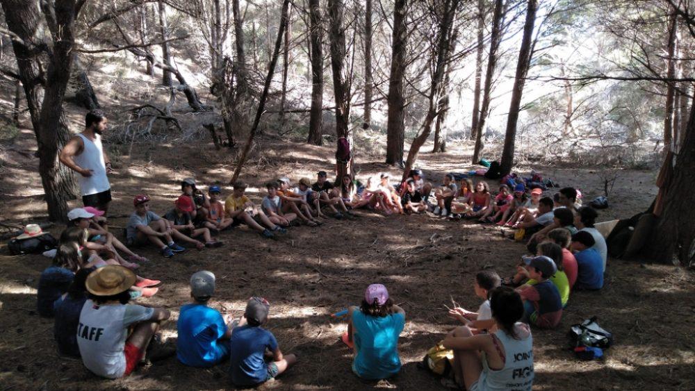 Los pequeños, en una de las actividades (Fotos: GOB Menorca)