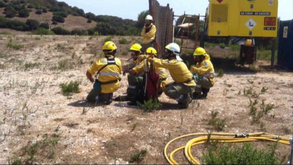 riesgo de incendios forestales.