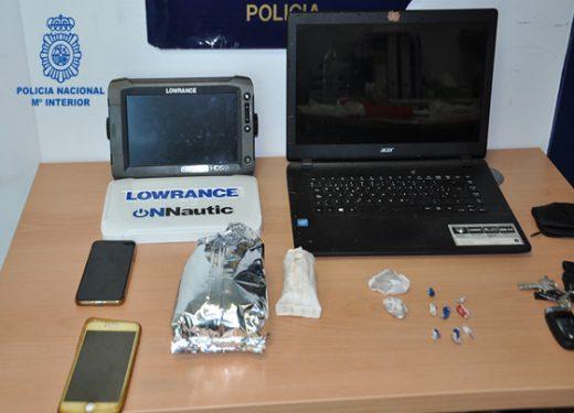 Material incautado al detenido (Foto: Policía Nacional)