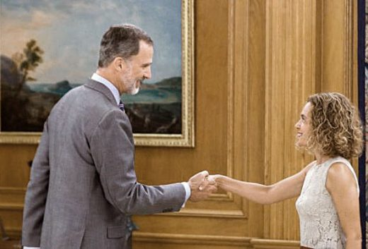 El monarca y la presidenta del Congreso se han reunido esta mañana.
