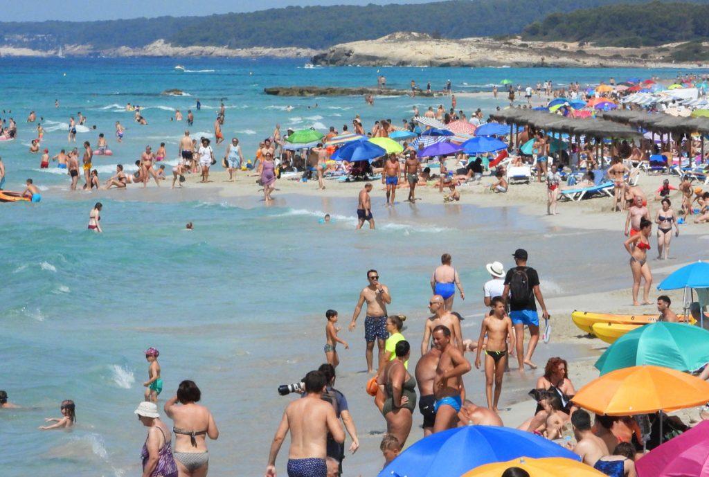Pese a la pandemia, en 2020 ha habido 16 playas sobresaturadas (Foto: Tolo Mercadal)