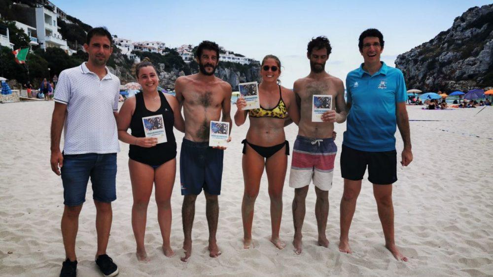 Ganadores y finalistas en la categoría de adultos mixtos (Fotos: Ajuntament d'Alaior)