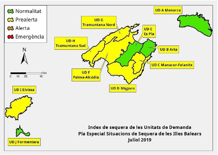 Las reservas hídricas de Baleares están en el 51%