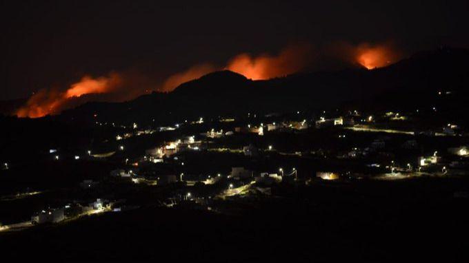 Imagen del incendio forestal.