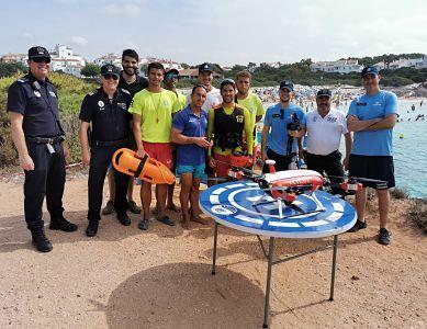 Un dron recorrerá las playas de Ciutadella esta semana