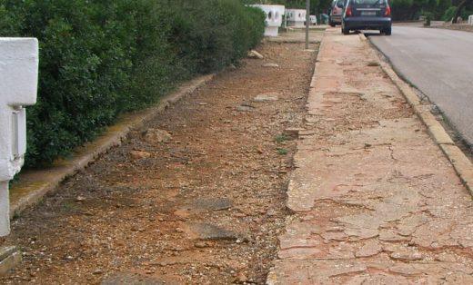 Se actuará en las aceras de una parte de la calle Vía Láctea y la calle Andrómeda  de Cala Morell
