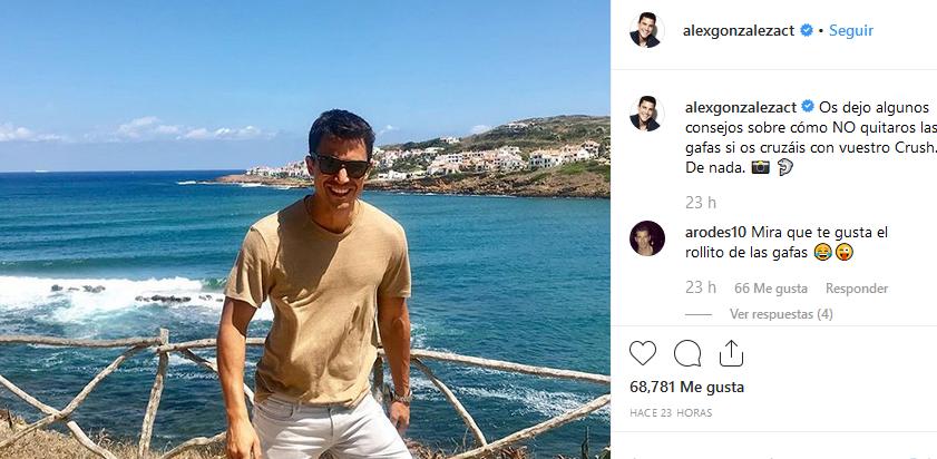 Fotografía en Menorca que ha colgado en Instagram.