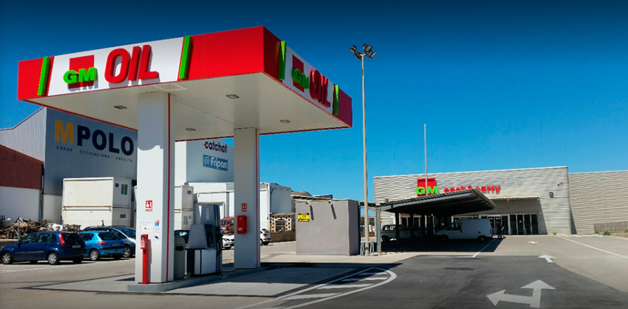 Imagen de la gasolinera.