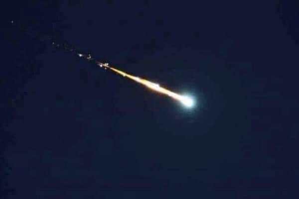Imagen de un meteorito.