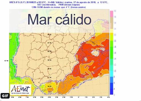 El calor del agua del mar y la entrada de aire frío pueden provocar fuertes tormentas