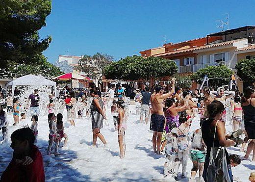 Imagen de la fiesta de la espuma.