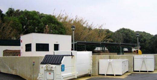 Imagen del punto limpio de Maó (Menorca Reserva de Biosfera)